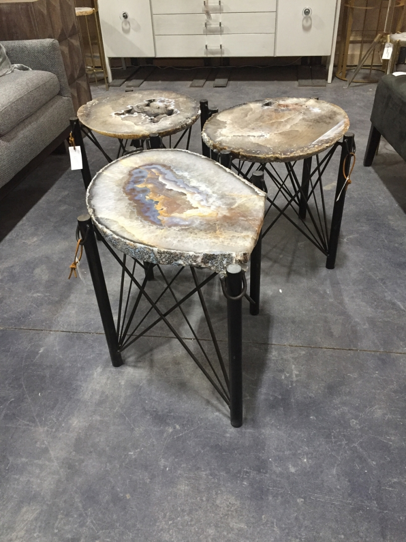 round top agate tables