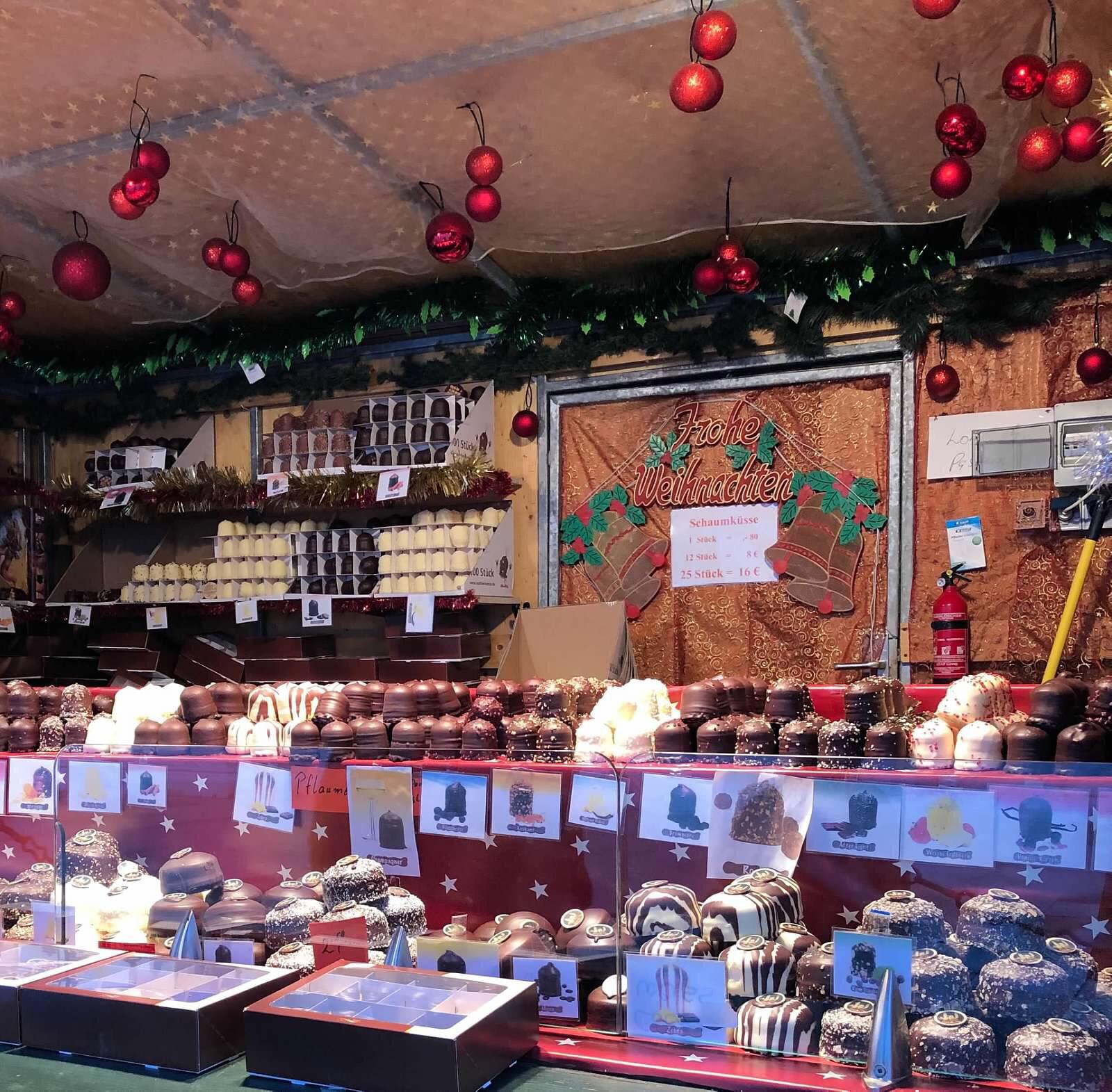 chocolate vendor, Passau, Austria