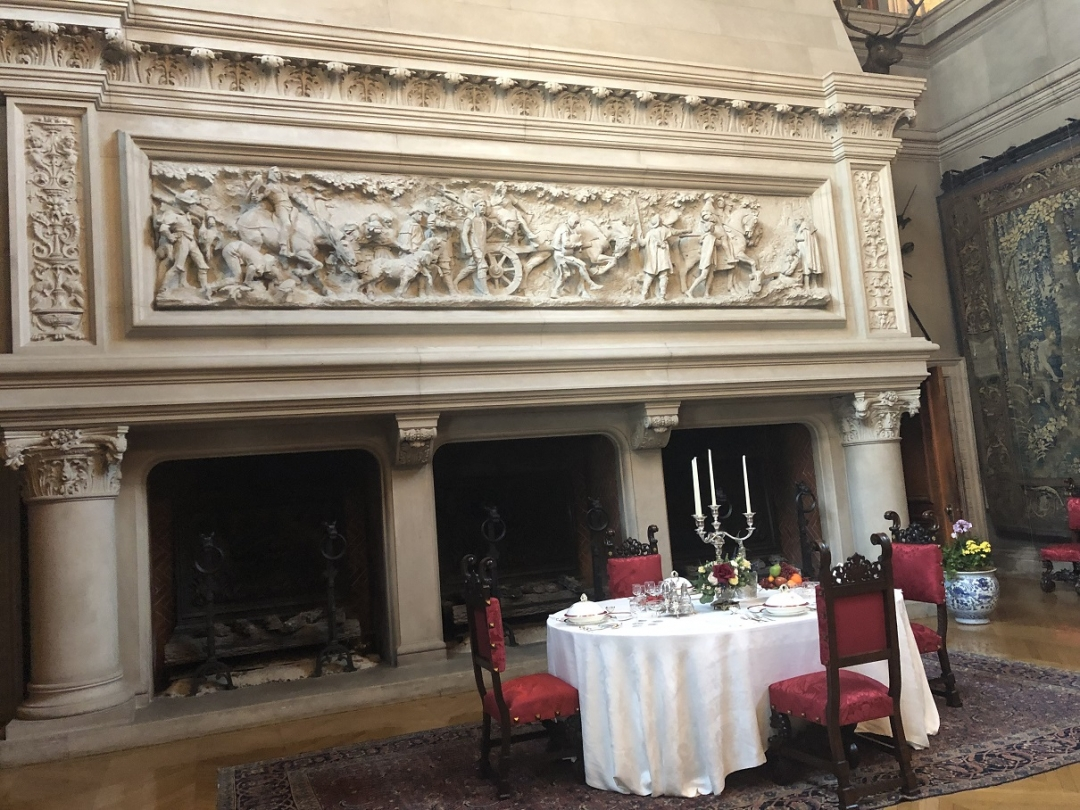 banquet room fireplace, biltmore mansion