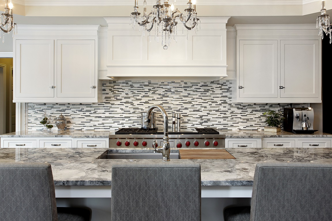 Mosaic Tile Backsplash Spotlighted On Dering Hall Interior Enhancement Group