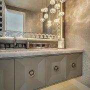 statement mirror bathroom