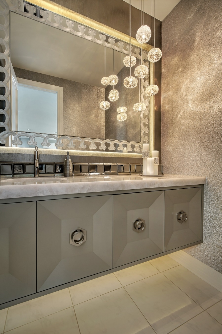 statement mirror bathroom