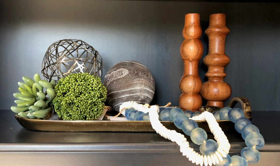 accessories, tray, succulents, beads, stone