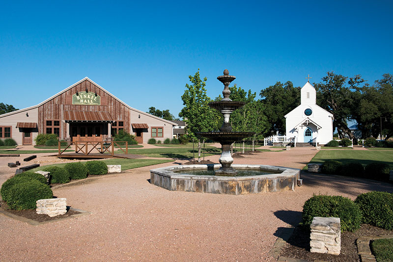 Round Top, Texas, town square